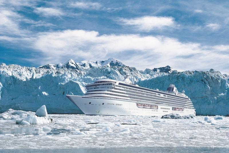 El Crystal Serenity está adaptado para la navegación por el Ártico.