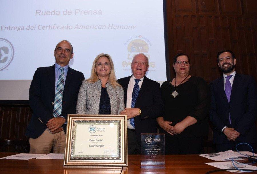 Loro Parque obtiene el certificado de bienestar animal de American Humane