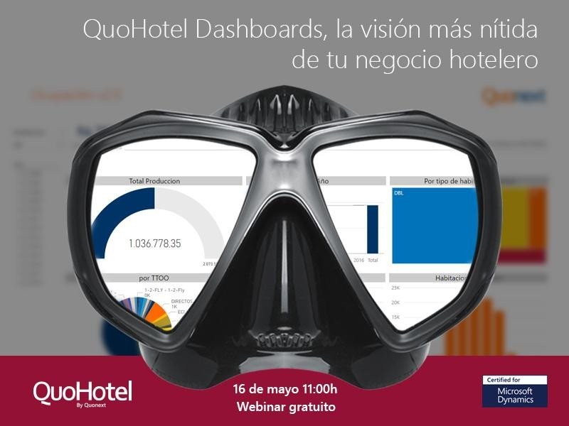 Webinar: QuoHotel Dashboards, la visión más nítida de tu negocio hotelero