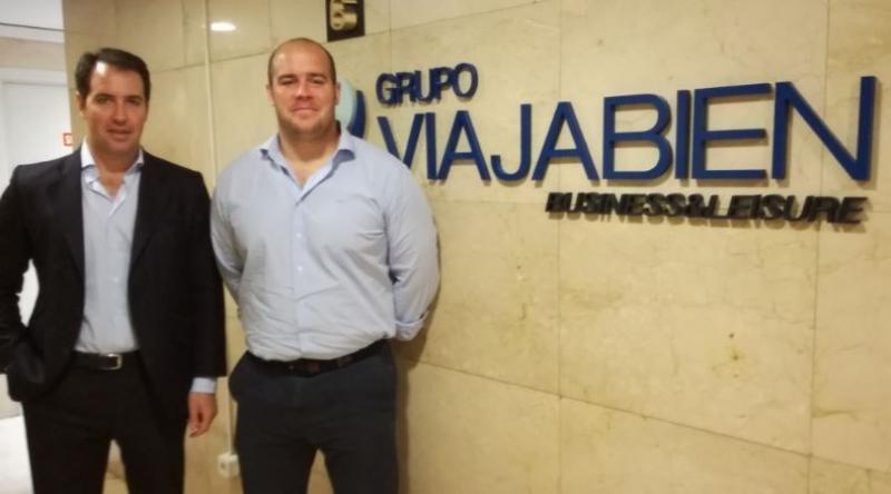 Los hermanos Jorge (Izda.) y Guillermo Espinós, director general y director ejecutivo de Grupo Viajabien.