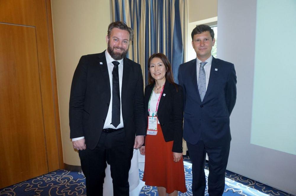 Jonas Wilstrip, chair BestCities; Kana Nomoto, Business Tourism Manager and David Noack director del MCB.