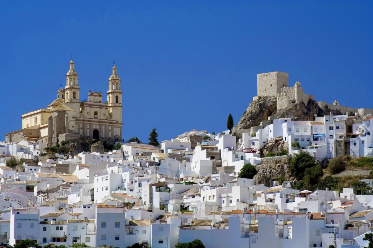 En la Sierra de Cádiz se encuentra la ruta de los Pueblos Blancos, integrada por 19 municipios con casas encaladas.