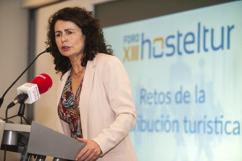 Matilde Asián, secretaria de Estado de Turismo, inauguró el Foro Hosteltur.