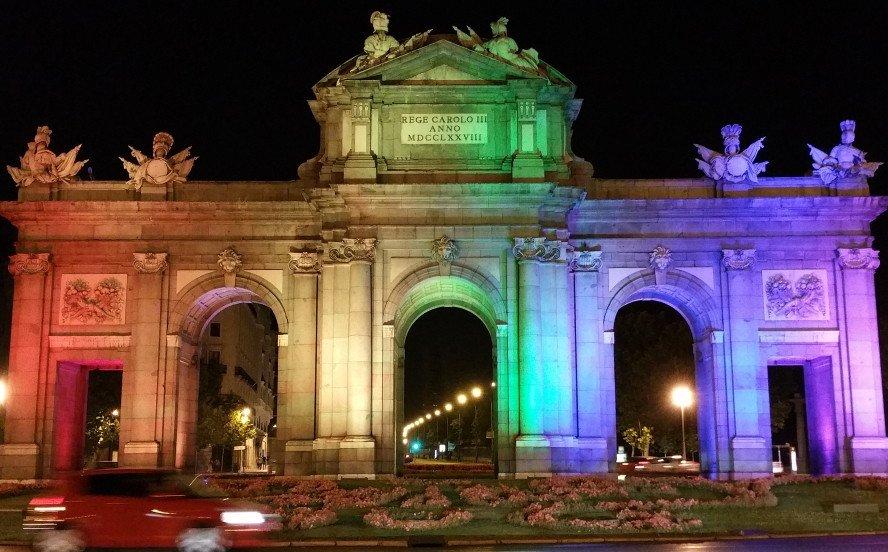 La Puerta de Alcalá de Madrid.