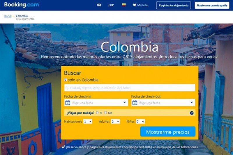 Colombia multa a Booking.com por operar irregularmente