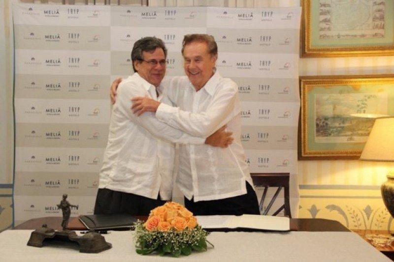 Gabriel Escarrer Juliá firmó acuerdos de administración con las cadenas hoteleras cubanas.