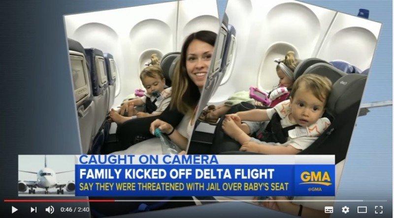 La familia de California fue obligada a abandonar el avión que habían tomado en Hawaii.