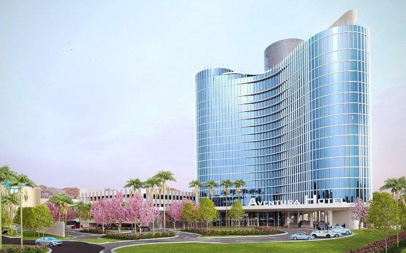 Aventura Hotel, establecimiento en construcción en Universal Resort.