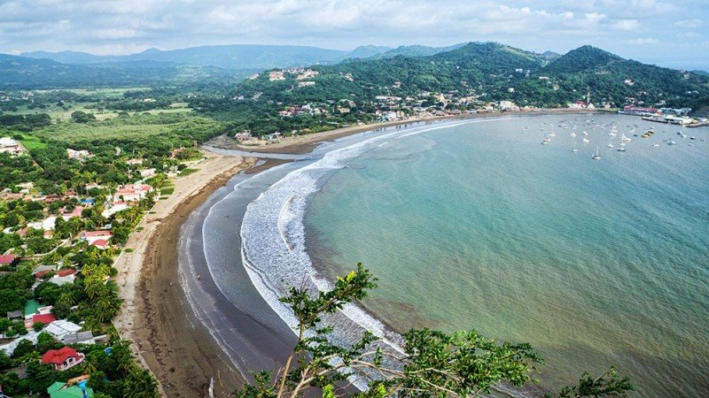 Bahía de San Juan del Sur, en el Pacífico nicaragüense.
