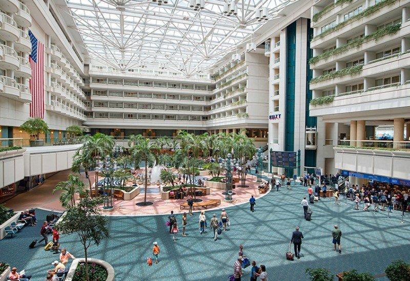 Aeropuerto de la ciudad de Orlando.