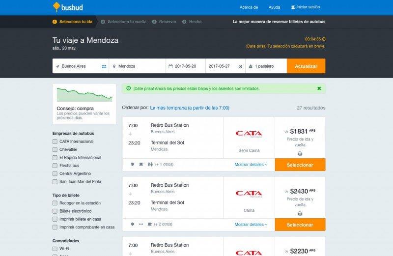 La plataforma permite buscar, comparar y comprar.