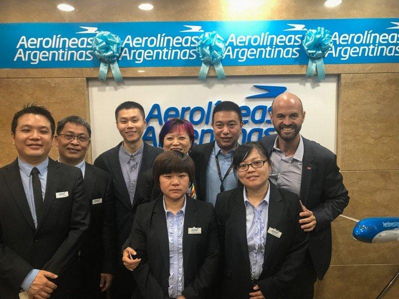 Aerolíneas Argentinas abre oficinas en Beijing y Shanghái