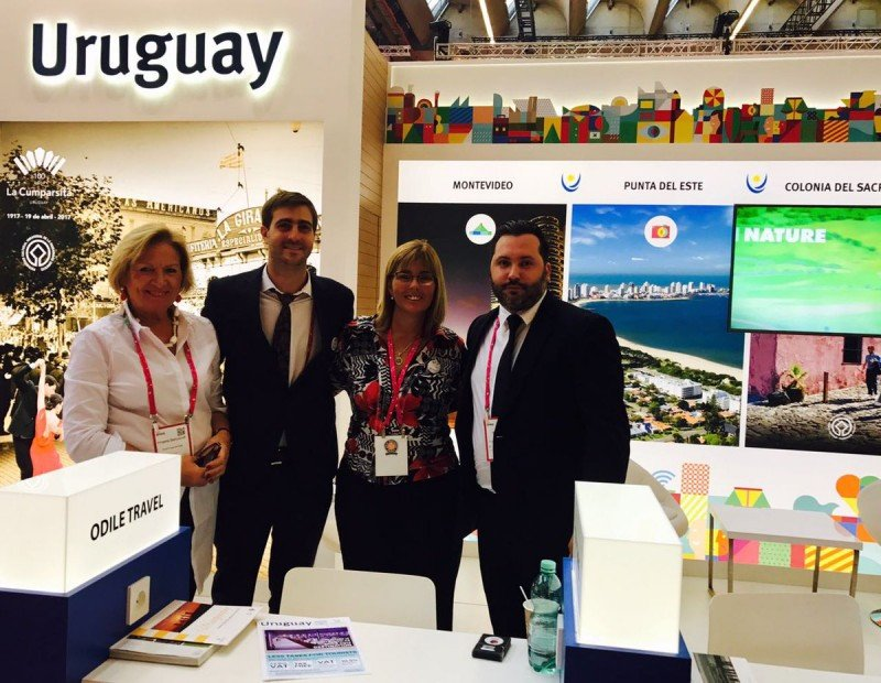 Profesionales de Uruguay en la feria IMEX.