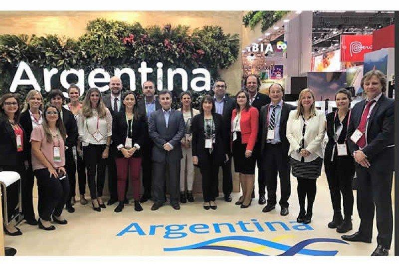 Delegación de Argentina en la feria especializada alemana.