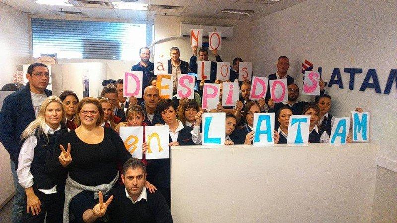 Trabajadores de LATAM (Foto: cuenta oficial de APA en Facebook)
