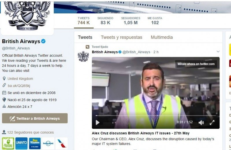Alex Cruz, CEO de la compañía, informó vía twitter que el problema se extendería más allá de la medianoche.