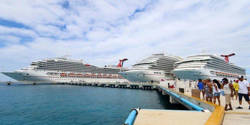 Cruceros en el puerto de Cozumel, que recibe más de la mitad de los pasajeros que pasan por México. Foto: Gobierno de Quintana Roo