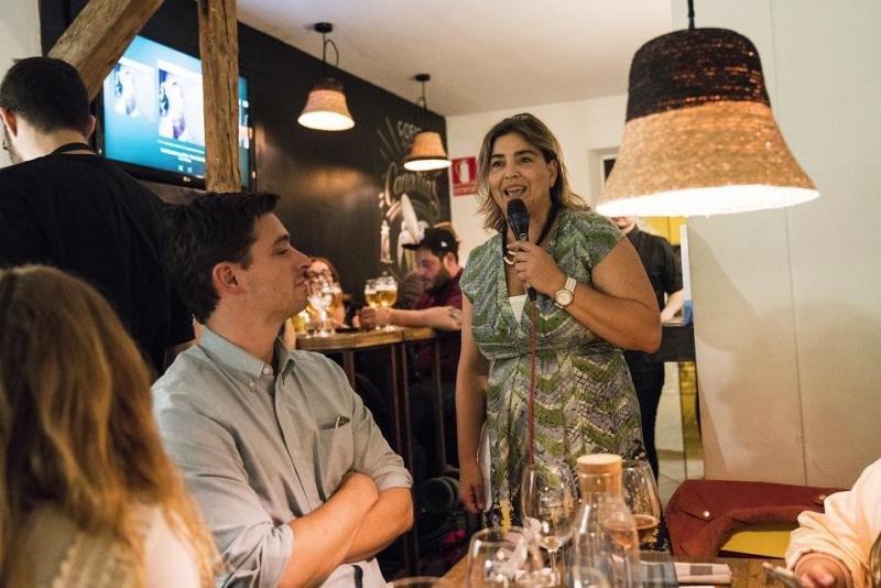 María Méndez, en la presentación de Canarias como destino gastronómico que tuvo lugar en el restaurante de nueva cocina canaria Gofio, en Madrid.