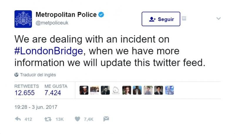 Londres sufre un nuevo ataque terrorista