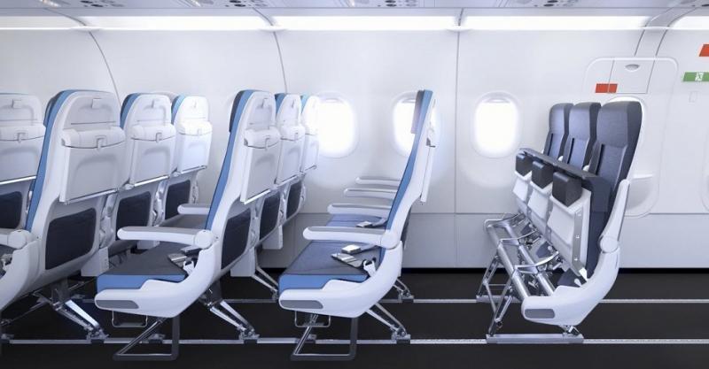 """El concepto """"Smart Cabin Reconfiguration"""" de Airbus permitirá a las aerolíneas adaptar la cabina a las necesidades de capacidad o factor carga de sus vuelos."""
