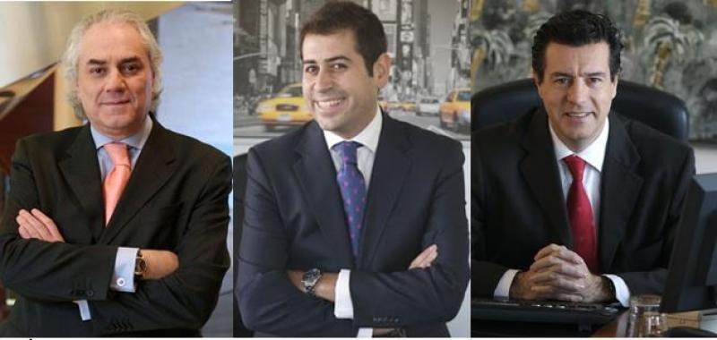 Desde la izqda: García Rascón, Juárez y Hoyos.