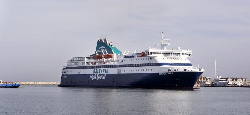 El ferry Nissos Chios.