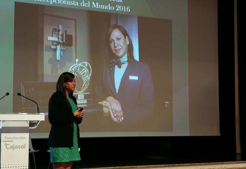 La Mejor Recepcionista del Mundo en 2016, Sofía Barroso.