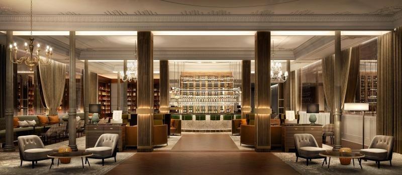 Así será el lobby del Gran Hotel Inglés
