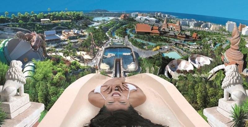 Imagen del Siam Park de Tenerife, un modelo que seguiría el  nuevo parque previsto para Maspalomas.