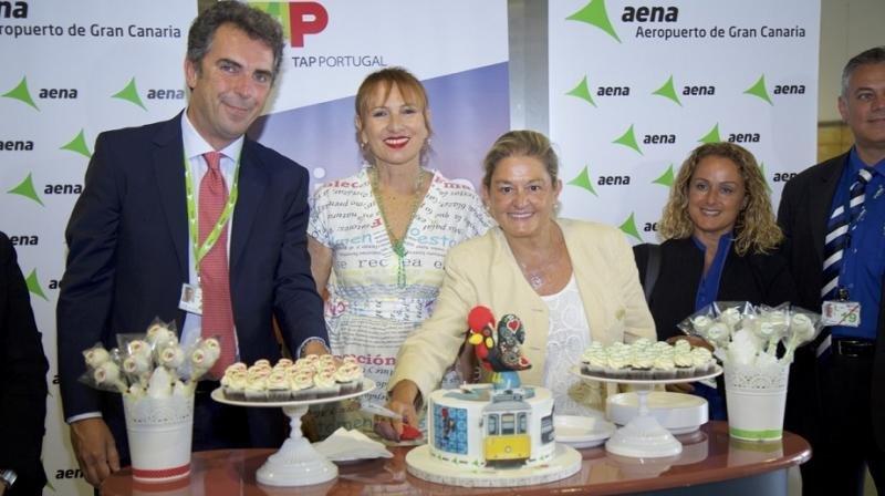 Recepción de TAP en el Aeropuerto de Gran Canaria.