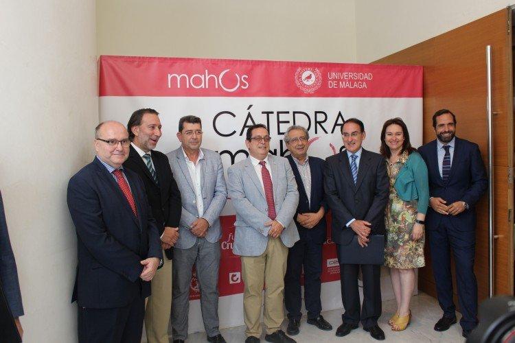 El Rectorado de la Universidad de Málaga acogió el acto de presentación de la Cátedra de Hostelería Mahos de la Universidad de Málaga.