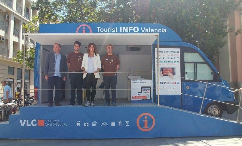 La primera teniente de alcalde del Ayuntamiento de Valencia, Sandra Gómez, presentó ayer el punto móvil.
