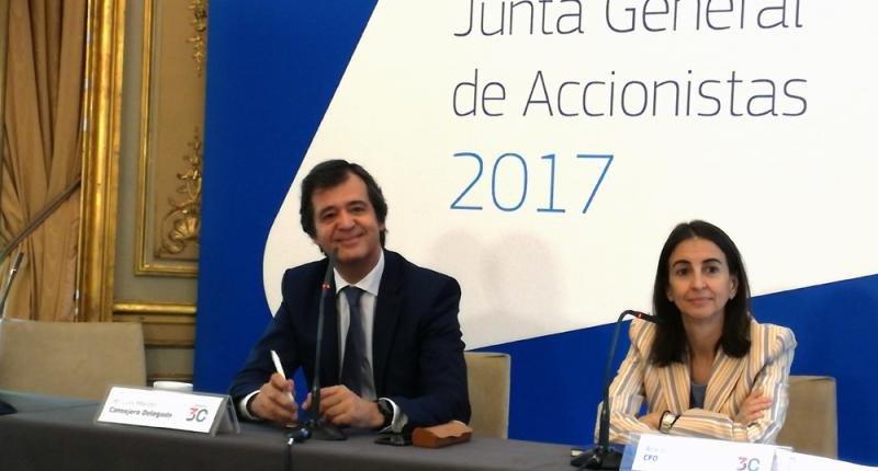 Luis Maroto, CEO de Amadeus, y Ana de Pro, directora financiera.
