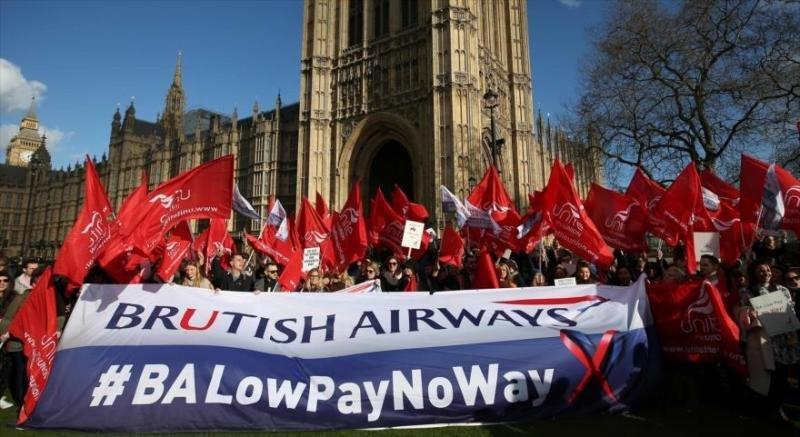 Los tripulantes de cabina en British Airways ya plantearon un coflicto en febrero pasado (Foto AFP/ archivo).