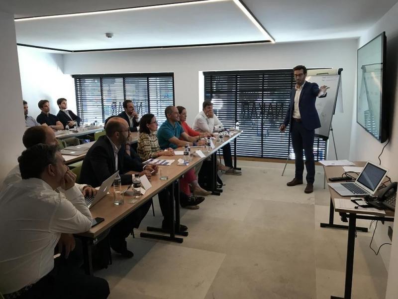 Marc Vilar, CEO de Apartool, durante su presentación ante los fondos de capital riesgo.