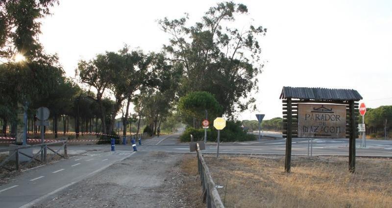 El Parador de Mazagón tuvo que ser desalojado en la madrugada del domingo. Fotografía del blog 'Rutas y viajes'.