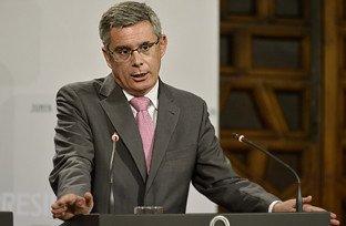 El portavoz del Ejecutivo andaluz, Juan Carlos Blanco, explicó los acuerdos del Consejo de Gobierno en rueda de prensa.