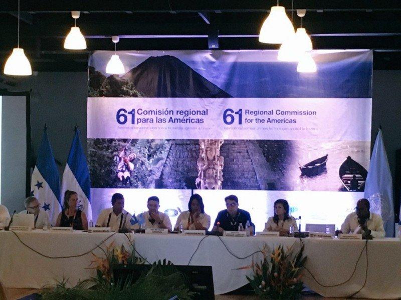 La 61a. reunión del Consejo de la OMT para las Américas compartió sede entre El Salvador y Honduras. Foto: Anato