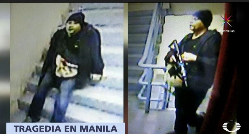 El agresor fue descrito como 'blanco, grande y gordo'; aunque no fue identificado se descarta el móvil terrorista. Foto: Televisa
