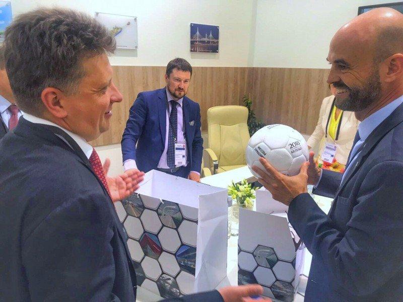 Guillermo Dietrich y Maksim Sokolov se reunieron en Alemania.