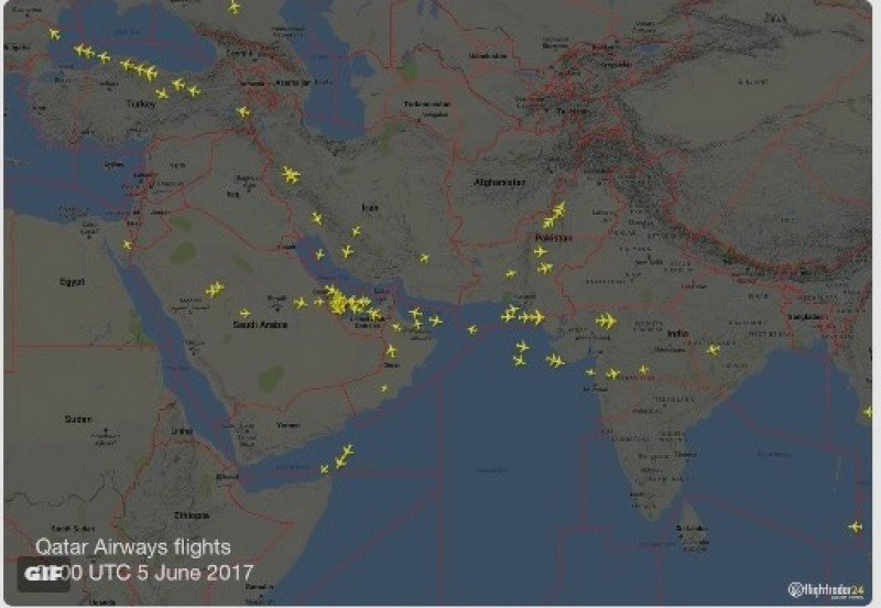 Miles de pasajeros aéreos afectados por ruptura de relaciones en Medio Oriente