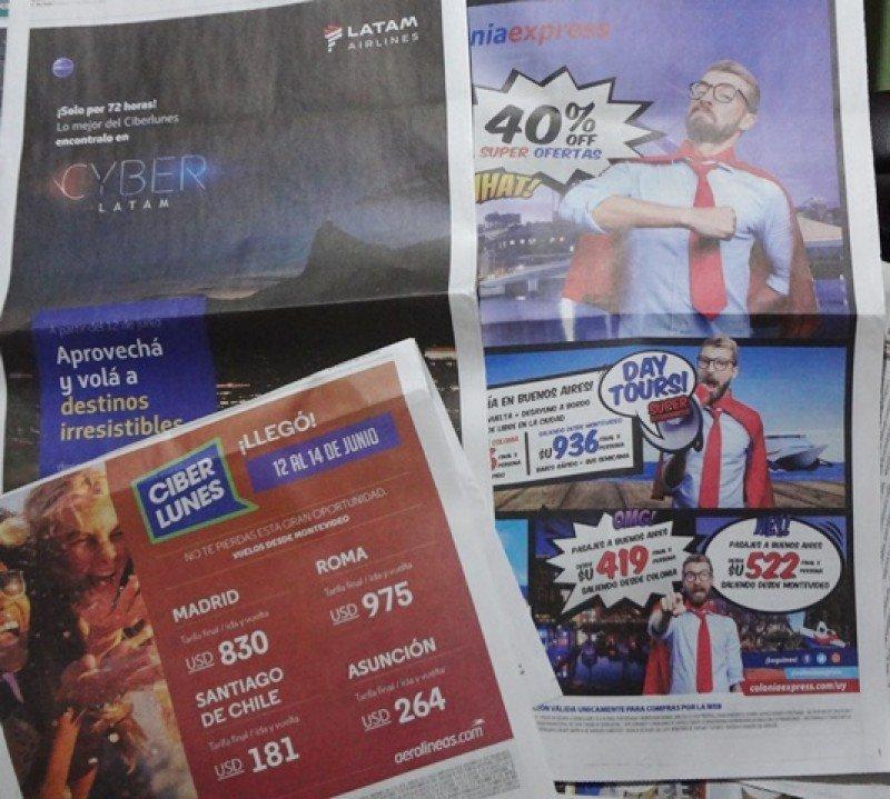 Publicidad de ofertas de Cyber Lunes en Uruguay.
