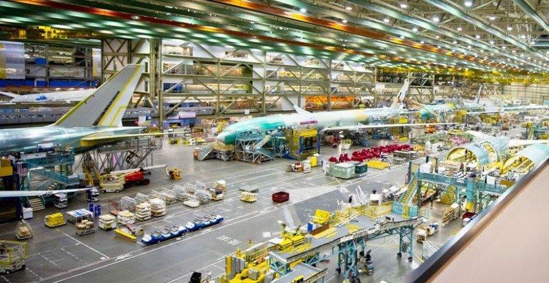 Fábrica de Boeing en Everett, Washington (EEUU). Foto: Boeing.