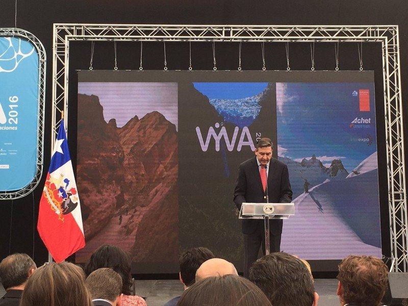 Roberto Kremer, vicepresidente de ACHET en la inauguración de la última feria VYVA. Foto: Aptur Chile.
