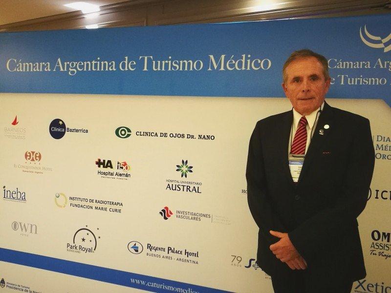 Miguel Cane, presidente de la Cámara Argentina de Turismo Médico.