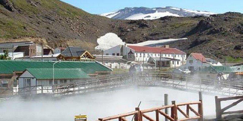 Complejo termal de Copahue en Neuquén.