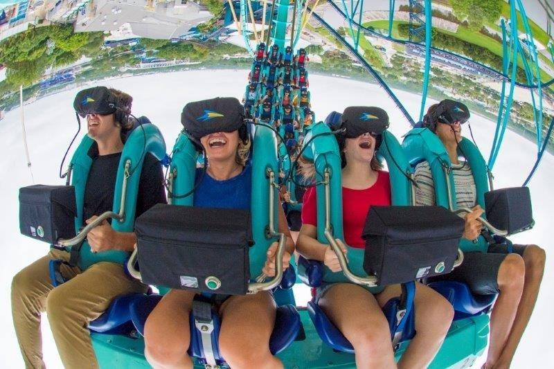 Nueva montaña rusa de SeaWorld integra realidad virtual
