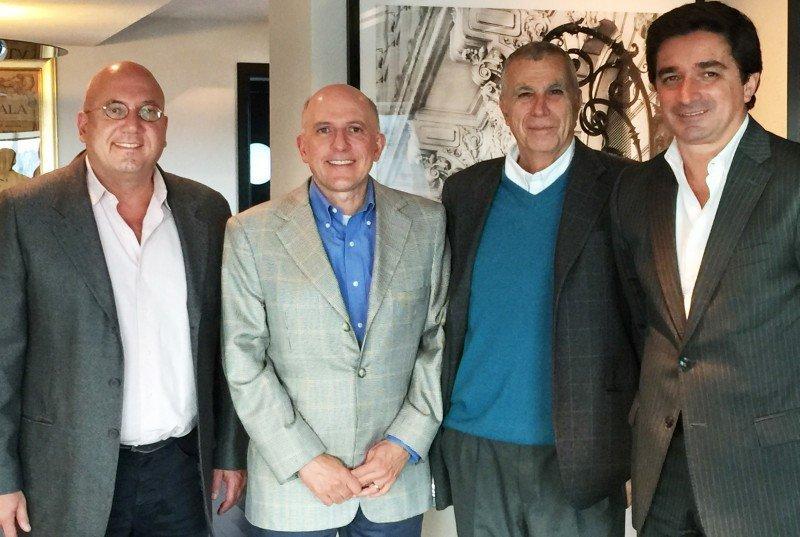 Marcelo Leone, Aldo Leone, Filippo Costa y Carlos Nuñez