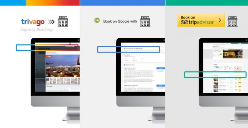 Comparativa de Trivago Express Booking, Book on Google y TripAdvisor Instant Booking realizada por Mirai.