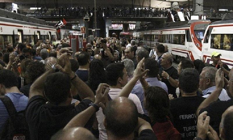 Huelga de 23 horas en Renfe y Adif (Foto archivo RTVE).